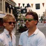 Med Peter Settman på barnteaterturné i Kristianstad 1986